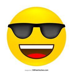 Free Vector Download, Free Vector Art, Vector Graphics, Funny Smiley, Cool Emoji, Student Council, Emoticon, Art Images, Vectors