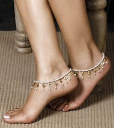 Pearl & Kundan Anklet, by Barohk