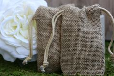Wedding burlap favor bag