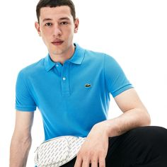 A seasonal wardrobe essential, this Polo Shirt is crafted in signature Lacoste cotton petit piqué. Perfect with cotton canvas chino pants and a pair of sneakers from the collection. Lacoste Polo Shirts, Slim Fit Polo Shirts, Lacoste Men, Polo Outfit, Slim Man, Fitness, Mens Tops, 2 Ply, Smart Casual