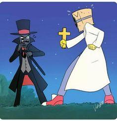 Black Hat and Flug Lizzie Mcguire, Cartoon Network, Jack Frost, Dr Flug, Hat Organization, Villainous Cartoon, Cartoon Crossovers, Bendy And The Ink Machine, Wedding Hats