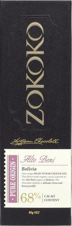 Zokoko 'Alto Beni', Bolivia 68% Dark Chocolate
