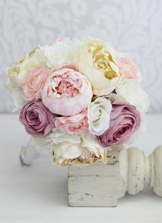 Hey, I found this really awesome Etsy listing at https://www.etsy.com/listing/114234057/silk-bride-bouquet-peony-peonies-vintage