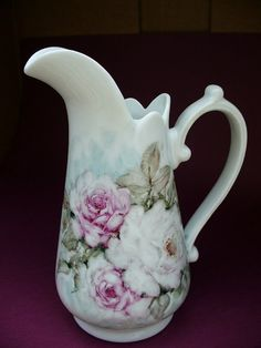 Rose Garden Porcelain Pitcher by SuttersGold on Etsy, $40.00