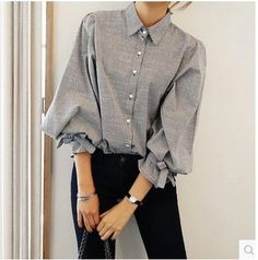 big bow lantern sleeve women blouse femme striped vintage fashion women tops shirt chemise femme chemisier camicie donna-in Blouses & Shirts from Women's Clothing & Accessories on Aliexpress.com | Alibaba Group