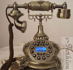 Old Style Vintage Phones Antique European Telephone Ornate Bronze ...
