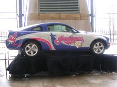 Cleveland Indiands Ford Mustang vehicle wrap
