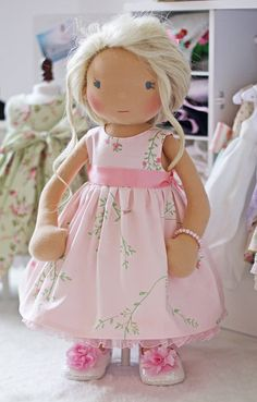 Pink Party Dress for 18 inch dolls by Olabelhe on Etsy