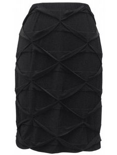 Criss Cross Skirt - think Little Black Dress with a twist. Sleek textured skirt to pair with your favorite festive top. $84.99 - click through display image for details.