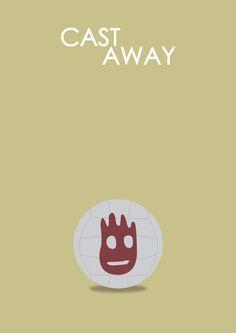 Cast Away (2000) ~ Minimal Movie Poster by Halil Beydilli #amusementphile