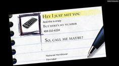 """Call Me Maybe"" business card...hahah love it..and I'm obsessed with that song right now. Good thing I don't listen to radio very often so it doesn't get old haha"