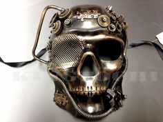 New Steampunk Gold Skull Full Face Style Masquerade Prom Ball Party Mask   eBay