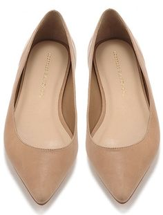Perfect nude flats- need a pair that have a point but fit wide feet and some support (high arches and stand on my feet all day)