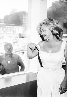 July 2nd 1957: Marilyn Monroe at the Rockefeller Center for the opening of the Time-Life Building.