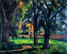 Chestnut Tree and Farm Artist: Paul Cezanne Completion Date: 1885 Style: Post-Impressionism Period: Mature period Genre: landscape Technique: oil Material: canvas Dimensions: x cm Gallery: Private Collection Paul Cezanne, Cezanne Art, Aix En Provence, Charles Angrand, Monet, Georges Seurat, Oil Painting Reproductions, Renoir, French Artists