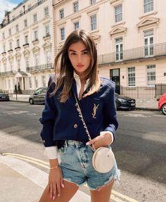 Cool Street Fashion, All Fashion, Street Style, Fashion Outfits, Chanel Fashion, Style Fashion, Fashion Design, Short En Jean, Short Jeans