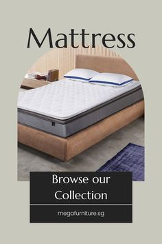 Good health can be attained by having adequate sleep. A good night's rest can be achieved by having a comfortable mattress to lie on. To help you find the best mattress for better sleep, browse our collection here. Buy Bed Frame, Comfort Mattress, Online Furniture Stores, Best Mattress, Affordable Furniture, Rest, Sleep, Sofa, Night