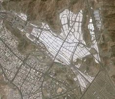 Mina Tent City, Mecca.  Once a year this 3 million and growing worshipers invade.
