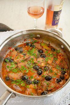 Limbă de porc cu măsline și sos de roșii. Rețeta clasică. Paella, Curry, Ethnic Recipes, Food, Kitchens, Curries, Essen, Meals, Yemek