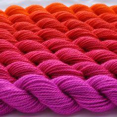 Zinnia Color Bridge Yarn Set by colorshiftyarn on Etsy, $63.55