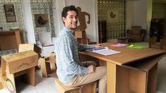 Decore sua casa com esses móveis de papelão
