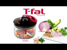 T-fal rapid chopper in action.