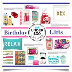 Birthday Gifts Under $30 by tennislover91 on Polyvore featuring polyvore interior interiors interior design home home decor interior decorating Home Essentials Chaps Domo Beads Lilly Pulitzer Eos Tony Moly Essie philosophy Vera Bradley