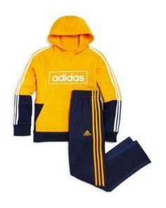 Adidas Boys' Color-Block Hoodie - Big Kid - Navy/yellow Jogger Pants, Joggers, Track Suit Men, Kids Online, Aesthetic Clothes, Big Kids, Mens Suits, Adidas Jacket, Costume