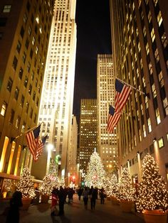 Rockefeller Center during the holidays