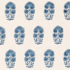 Balotra Embroidered Linen - Blue