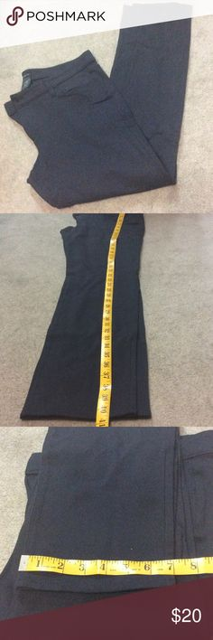 Ann Taylor Modern Dark Navy Tall Pant Ann Taylor dark navy pant worn once straight leg tall length 69%rayon 27%nylon 4%spandex, one button and zipper closure, back and front side pockets ... In great condition Ann Taylor Pants Straight Leg