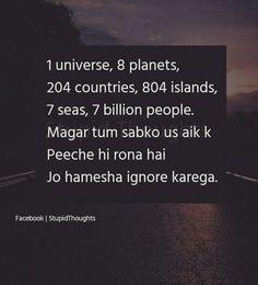 So me✋ Pin/khushi Shyari Quotes, Funny True Quotes, Crazy Quotes, Hurt Quotes, Girly Quotes, Mood Quotes, Life Quotes, Hindi Quotes, Poetry Quotes