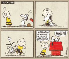 Charlie Brown and Snoopy.