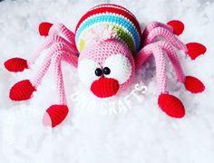 Knit Or Crochet, Crochet Toys, Crochet Baby, Free Crochet, Knitted Animals, Ladybug, Free Pattern, Diy And Crafts, Crochet Patterns