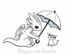 Inktober: Rain by DragonsAndBeasties.deviantart.com on @deviantART
