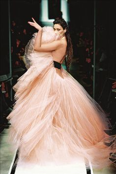 Pink <3 tulle evening gown