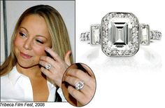 Mariah Carey's gorgeous diamond ring