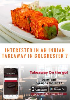 If you're interested in an Indian Takeaways Near Colchester. Finding some delicious local Indian food is as simple. Place your order with ChefOnline & you'll be enjoying a gourmet Indian takeaway feast at home. Indian Food Recipes, Ethnic Recipes, Watford, Tandoori Chicken, Birmingham, Restaurant, Vegetables, Reading, Simple