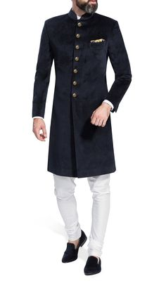Indian Dress Solid Color Velvet Sherwani Indo Western for Men Wedding Partywear Achkan Jodhpuri Rajasthani Designer Royal Traditional Suit - Jodhpuri suits for men - Mens Wedding Wear Indian, Sherwani For Men Wedding, Wedding Dresses Men Indian, Indian Groom Wear, Wedding Dress Men, Wedding Men, Indian Dresses, Ethnic Wedding, Wedding Groom