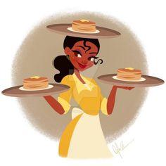 Disney Nerd, Arte Disney, Disney Fan Art, Disney Girls, Disney Love, Disney Magic, Tiana And Naveen, Princesa Tiana, Disney Princess Tiana