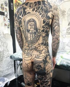 MONTA MORINO Body Painting, Body Art Tattoos, Tatoos, Alone Tattoo, Back Tattoos For Guys, Back Pieces, Irezumi, Traditional Tattoo, Japanese Art