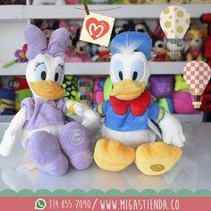 Ahora en #Migas peluches originales #Disney, visítanos CL 37 SUR CR 34-32 la tienda de regalos con más variedad de la cuidad. #Deysi #Donald Precio: 95.700 c/u Pedidos al WhatsApp 314 855 2090 - ventas@migastienda.co Envíos a todo el país.