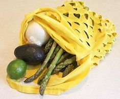 Make your own produce bags out of an old t-shirt!