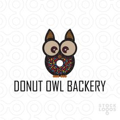 Exclusive Customizable Logo For Sale: Donut Owl Backery by eclipse42 | Stocklogos.com
