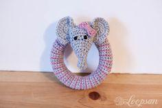 Free Crochet pattern for Grace - the little elephant rattle, which will match lookatwhatimade Grace- Elephant comfort blanket for your little one.