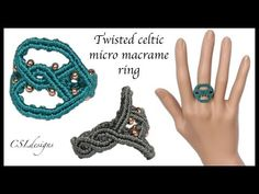 Twisted Celtic micro macrame ring - YouTube
