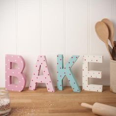 Gisela Graham Spotted 'Bake' Letters - £16.50 -  from The Contemporary Home Online Shop