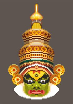 kathakali dancer by Sayon Chatterjee, via Behance
