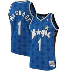 bc106ddd2 Tracy McGrady Orlando Magic Mitchell   Ness Blue Away Swingman Jersey
