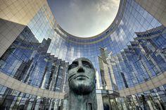 La Défense, Paris. Tindario by Igor Mitoraj (1997) and the KPMG building.
